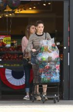 ASHLEY GREENE in Jeans Shorts Shopping in Los Angeles 05/20/2016