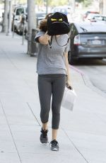 ASHLEY TISDALE Leaves a Gym in Los Angeles 05/12/2016