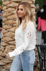 ASHLEY TISDALE on the Set of