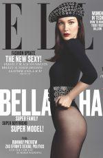 BELLA HADID in Elle Magazine, June 2016