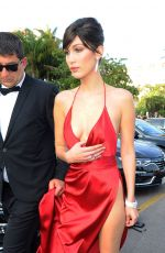 BELLA HADID Leaves Her Hotel in Cannes 05/18/2016