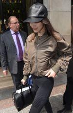 BELLA HADID Leaves Her Hotel in Paris 05/28/2016