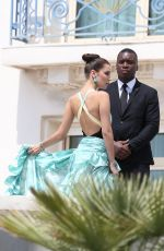 BELLA HADID on the Set of a Photoshoot in Cannes 05/18/2016