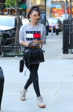 BELLA HADID Out and About in New York 05/08/2016