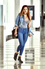 BELLA THORNE in Tight Jeans Out in Century City 05/02/2016