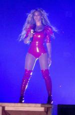 BEYONCE Performs at Her Tour at Pasadena