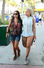 BLAC CHYNA Leaves Havana 1957 Restaurant in Miami Beach 05/12/2016