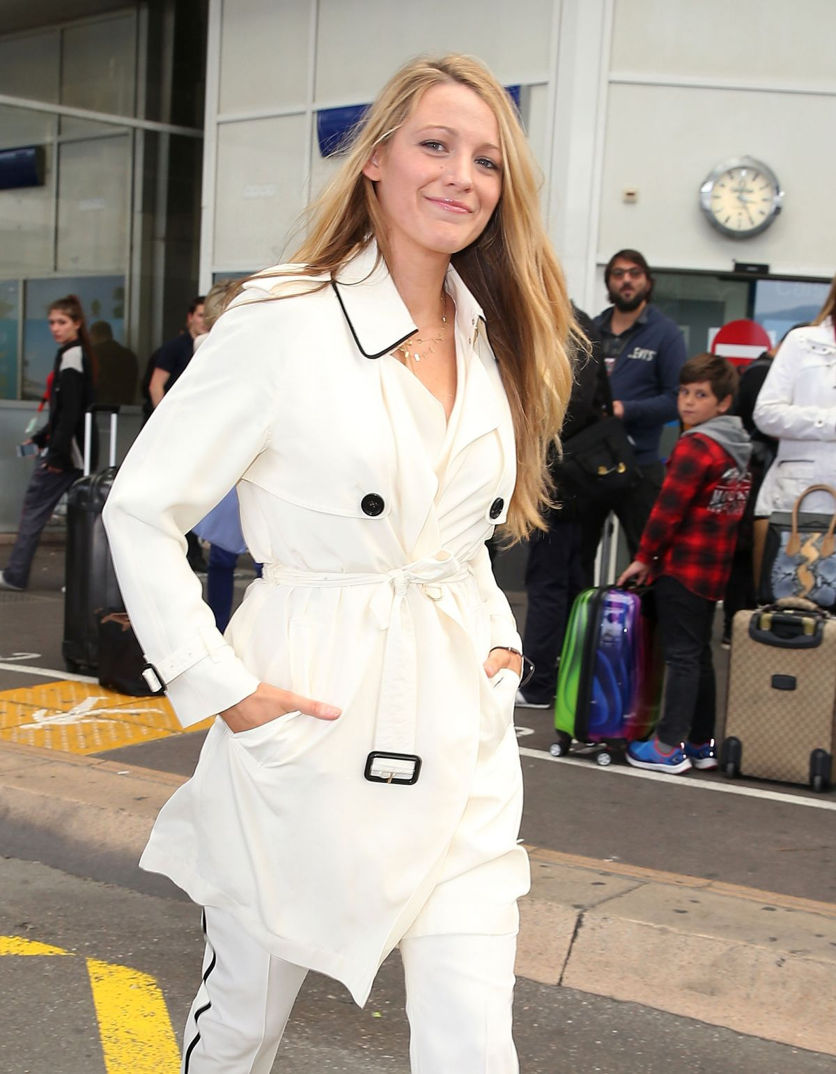BLAKE LIVELY at Airport in Nice 05/09/2016