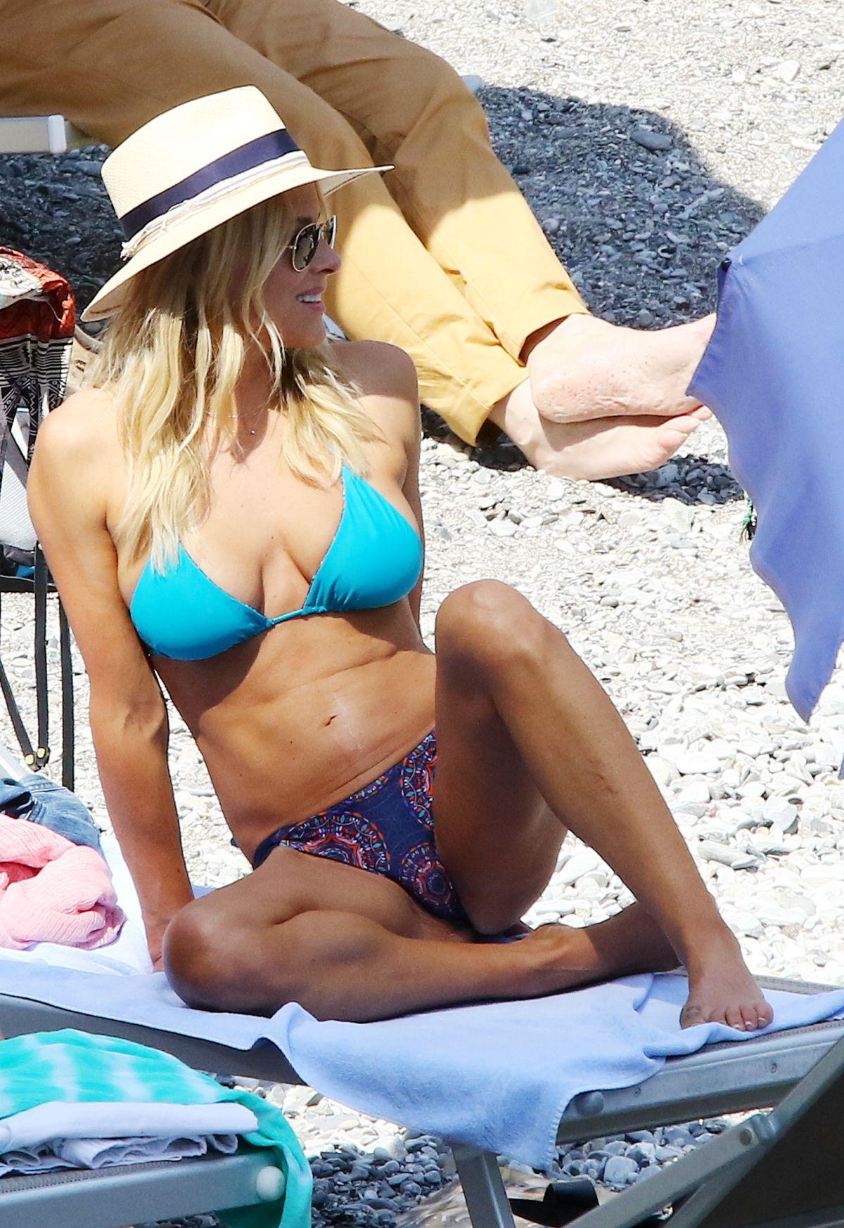 BRITTANY DANIEL in Bikini on the Beach in Portofino 05/07/2016