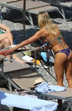 BRITTANY DANIEL in Bikini on the Beach in Portofino 05/07/2016
