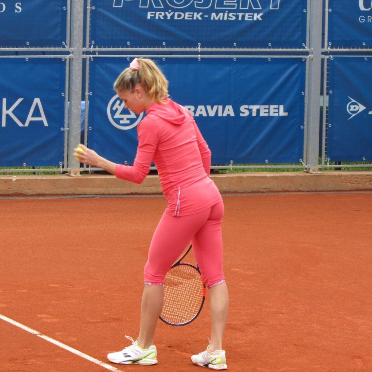 CAMILA GIORGI Practice in Tight Pants