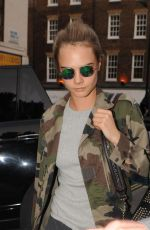 CARA DELEVINGNE Leaves Chiltern Firehouse in London 05/05/2016