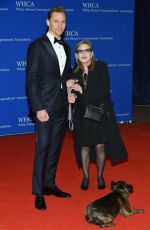 CARRIE FISHER at White House Correspondents' Dinner in Washington 04/30/2016