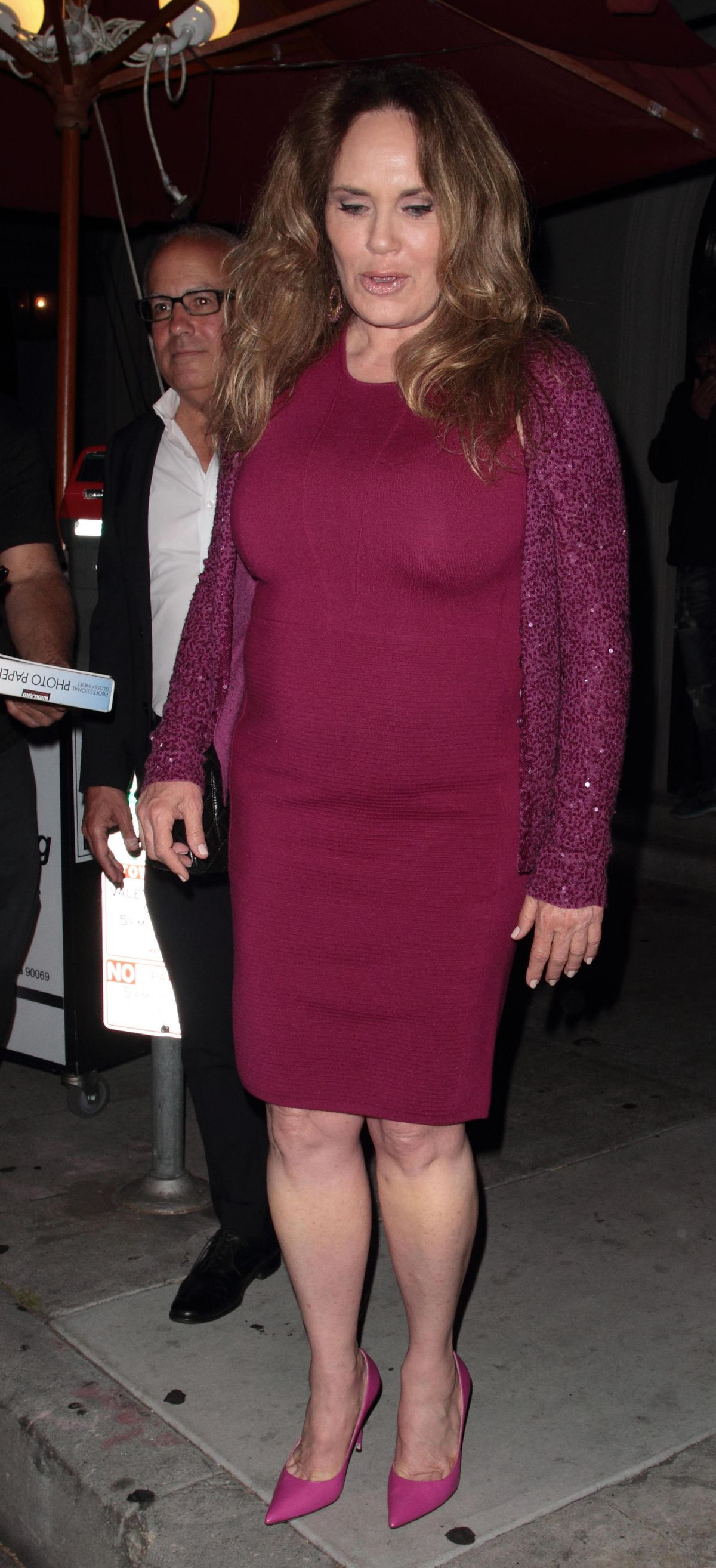 CATHERINE BACH at Craig's Restaurant in West Hollywood 05