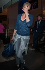 CHARLIZE THERON at Los Angeles international Airport 05/25/2016