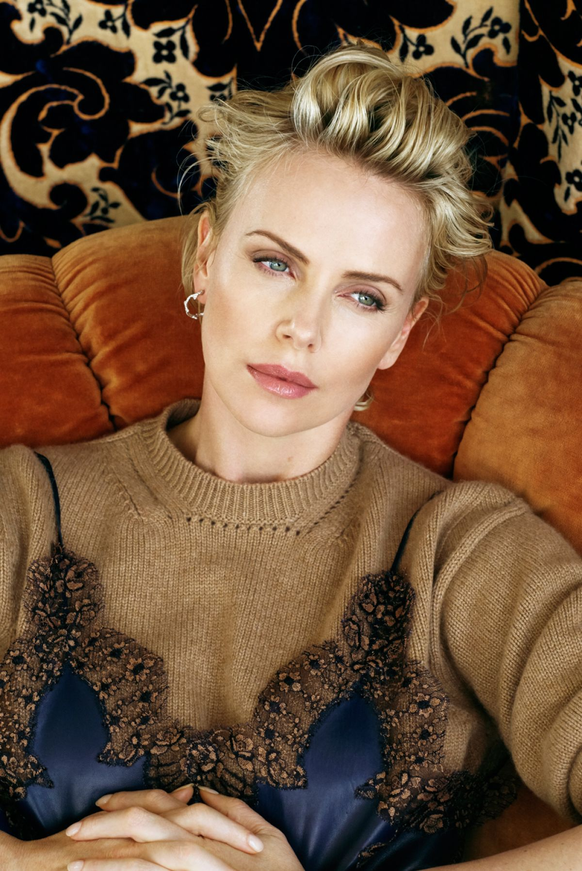 Charlize Theron In Versace For British Vogue: CHARLIZE THERON By Collier Schorr For V Magazine, #101