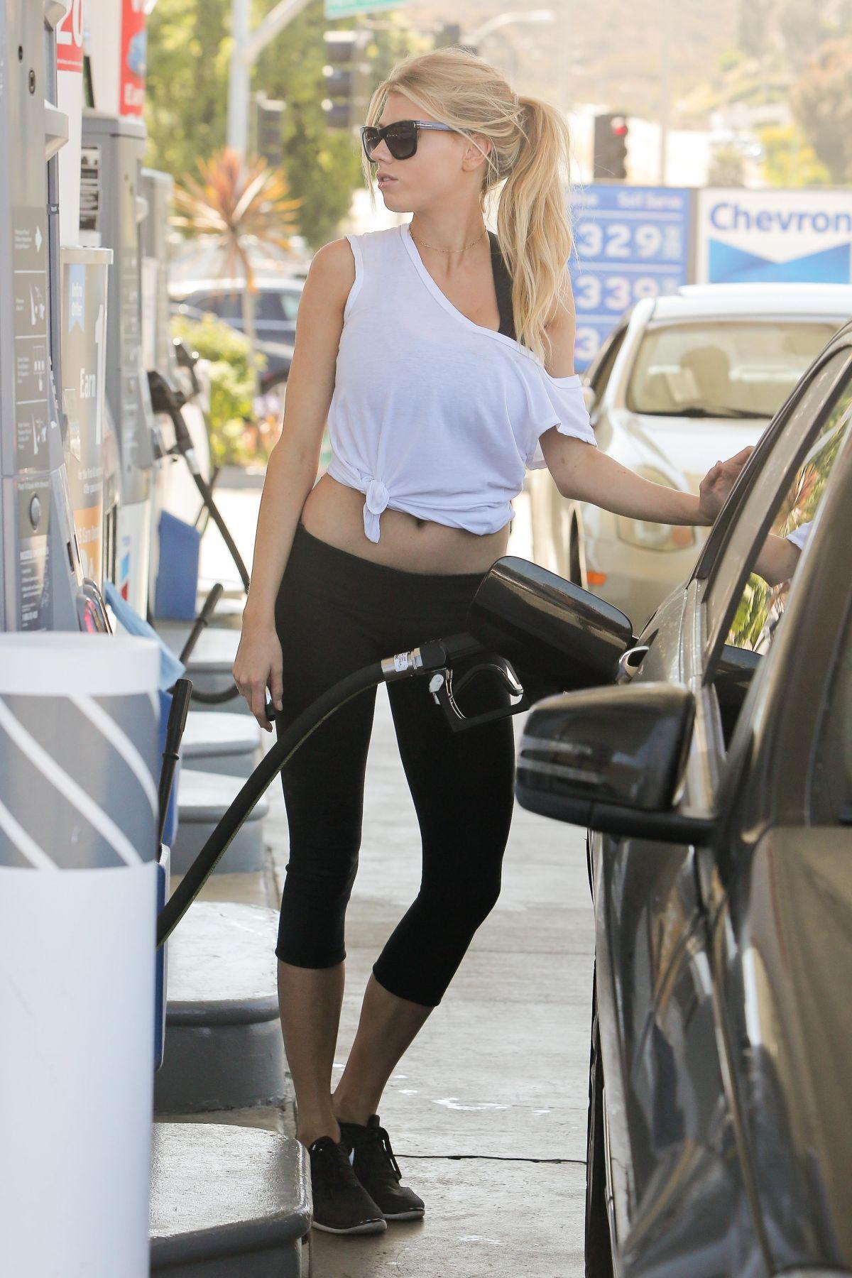 Charlotte Mckinney At A Gas Station In Malibu 05 22 2016