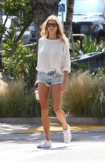CHARLOTTE MCKINNEY in Cut Off Shopping at Malibu Country Mart 05/14/2016