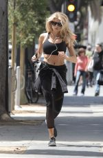 CHARLOTTE MCKINNEY Leaves a Gym in Los Angeles 05/11/2016