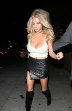 CHARLOTTE MCKINNEY Night Out in Los Angeles 05/11/2016