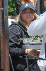 CHLOE MORETZ and Brooklyn Beckham Lunch at Zinque in West Hollywood 05/21/2016