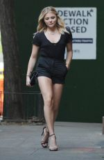 CHLOE MORETZ in Shorts Out and About in New York 05/23/2016