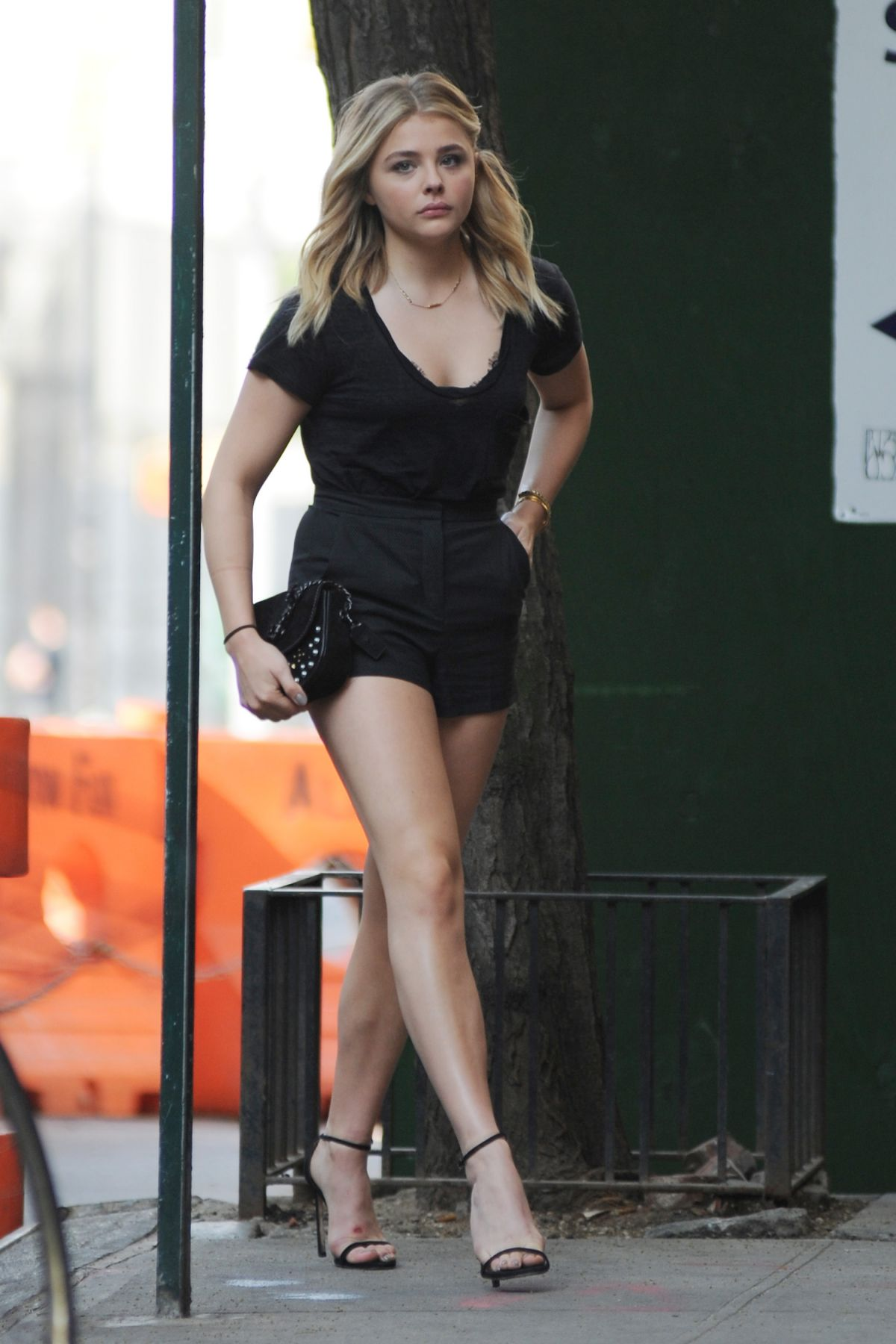 CHLOE MORETZ in Shorts Out and About in New York 05/23 ...