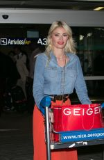 CHLOE SIMS Arrives at Nice Airport 05/14/2016