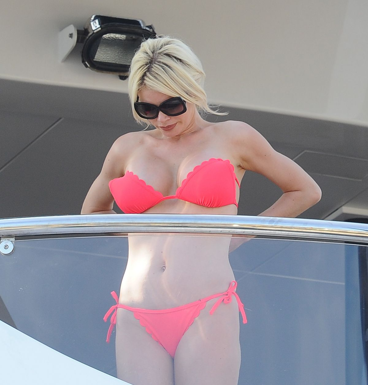 CHLOE SIMS in Bikini at a Yacht 05/18/2016