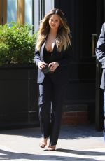 CHRISSY TEIGEN Out and About in New York 05/18/2016