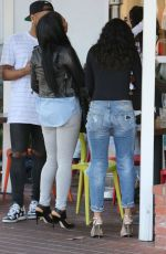 CHRISTINA MILIAN and KARREUCHE TRAN Out in West Hollywood 05/24/2016