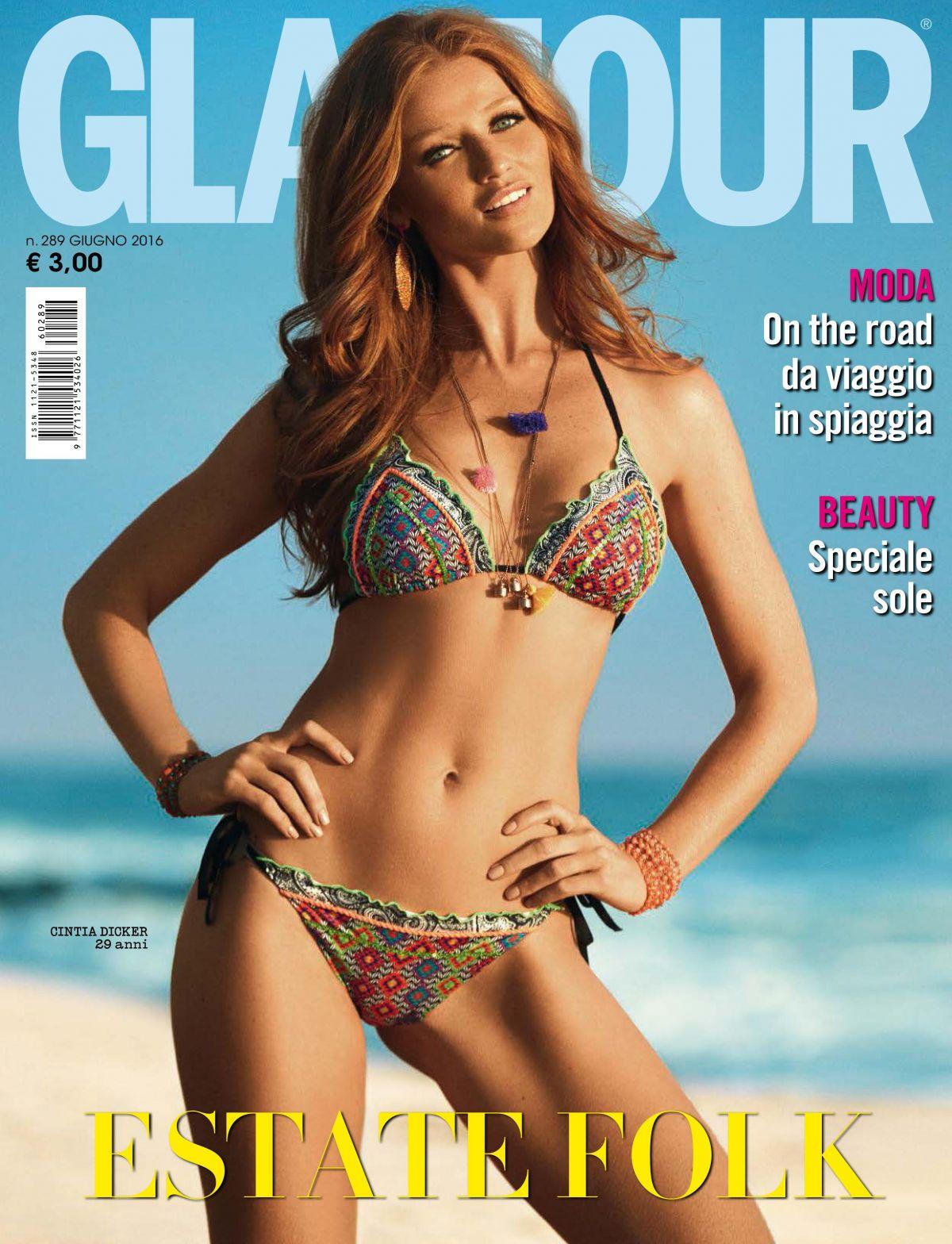 CINTIA DICKER in Gglamour Magazine, Italy June 2016 Issue