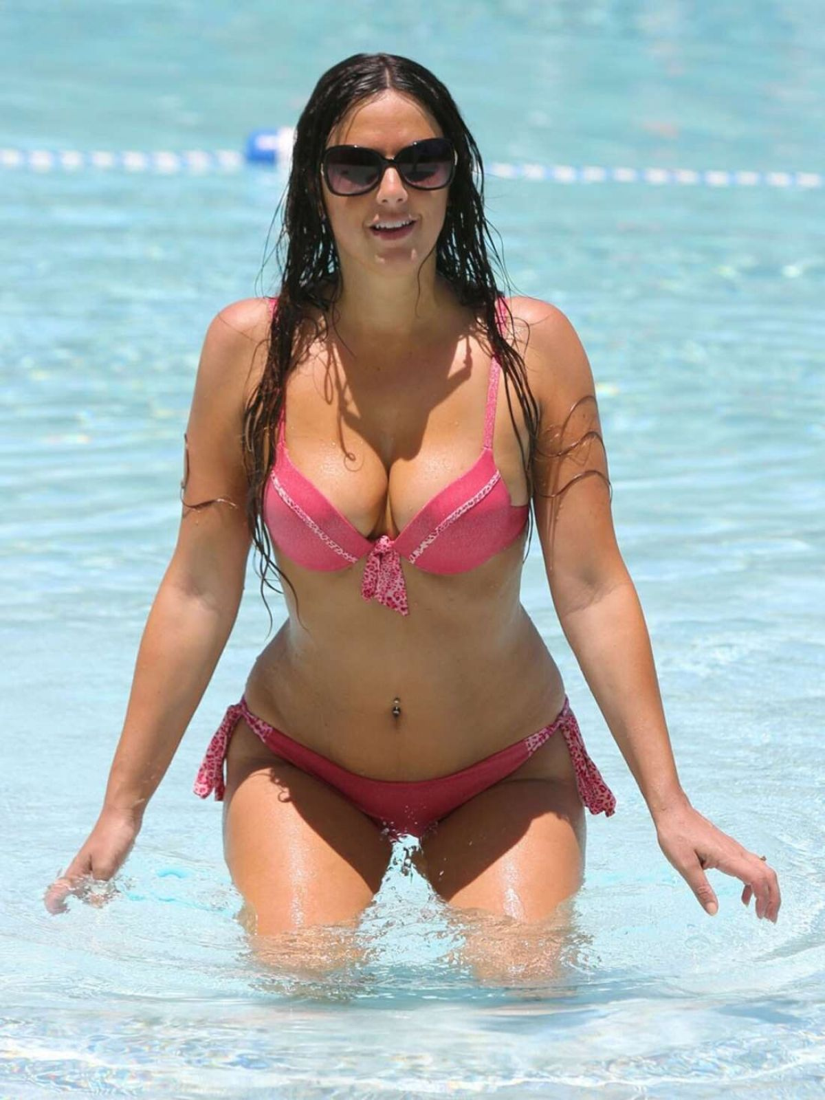 CLAUDIA ROMANI in Bikini at a Pool in Miami 05/27/2016