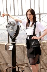 COCO ROCHA Lights Empire State Building for World Blood Day in New York 05/26/2016