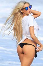 DAISY LEA on the Set of 138 Water Bikini Photoshoot in Malibu