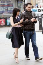 DAISY LOWE Out and About in London 05/24/2016