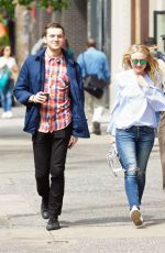 DAKOTA FANNING in Jeans Out and About in Soho 05/19/2016