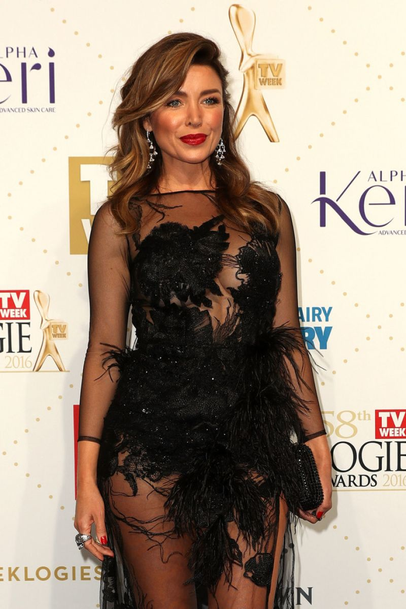 DANII MINOGUE at 58th Annual Logie Awards in Melbourne 05/08/2016