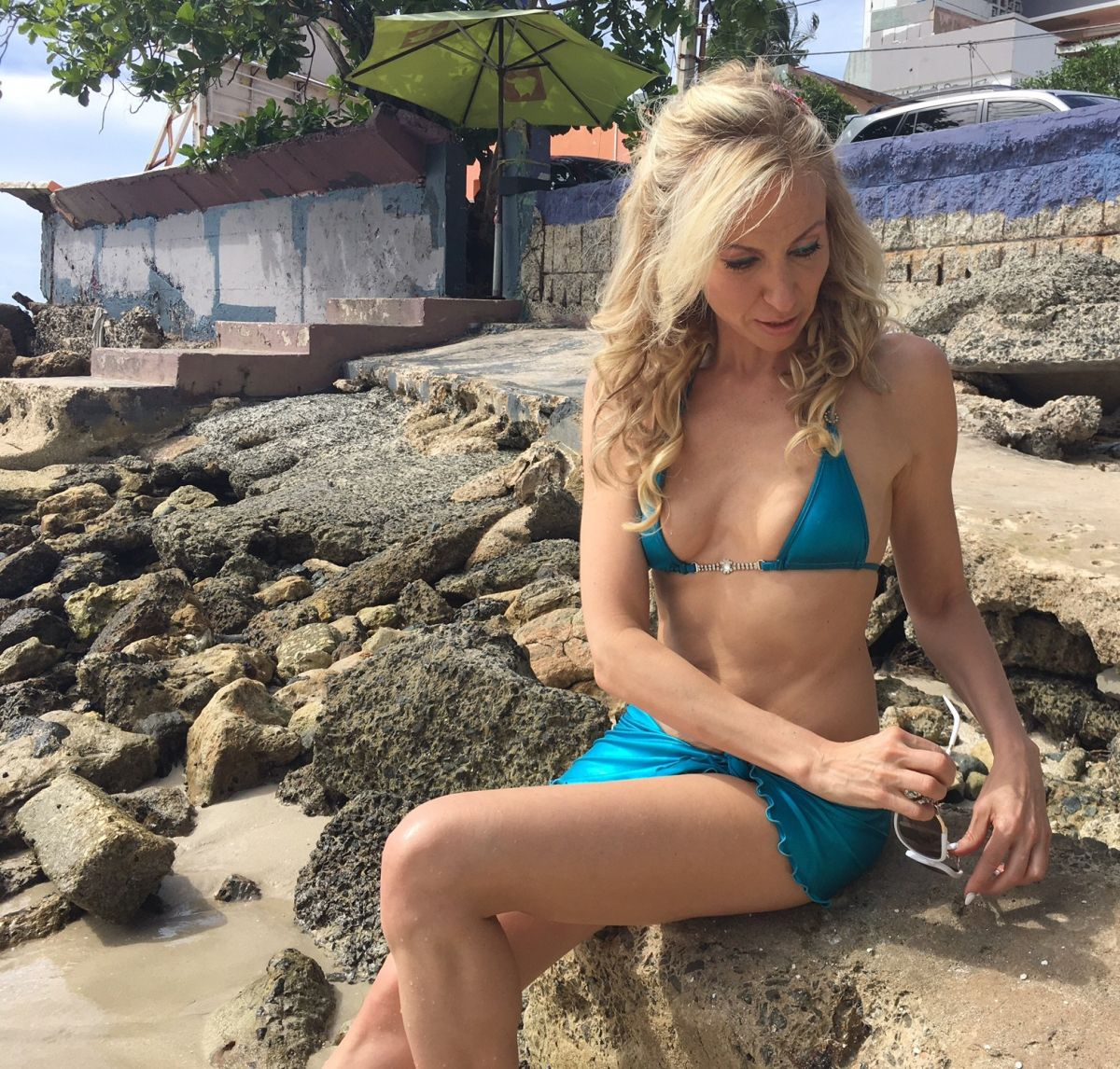 DEBBIE GIBSON in Bikini on the Beach in Puerto Rico, May 2016