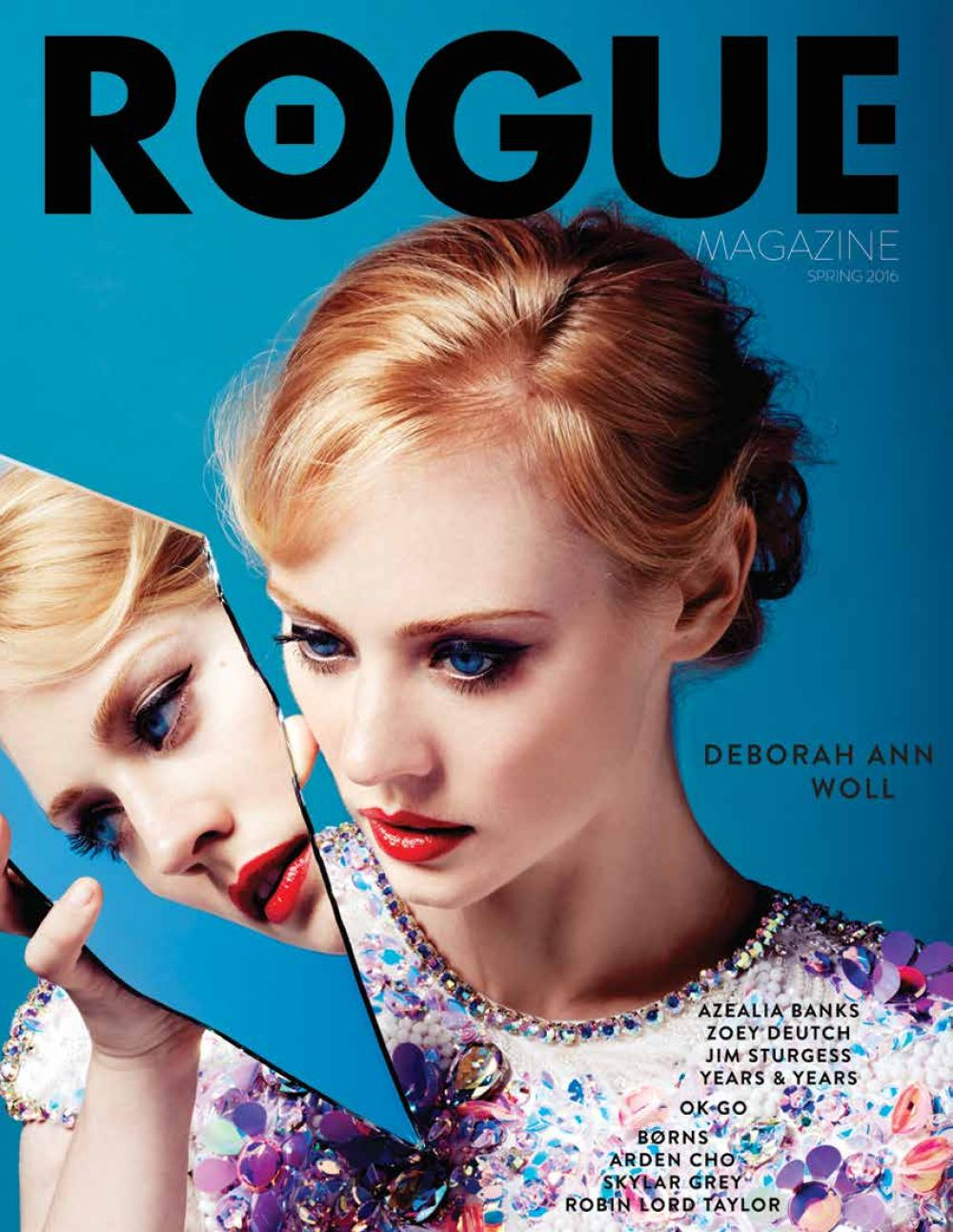 DEBORAH ANN WOLL in Rogue Magazine, Spring 2016 Issue