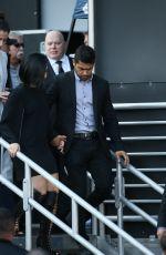 DEMI LOVATO and Wilmer Valderrama Leaves Jimmy Kimmel 05/24/2016