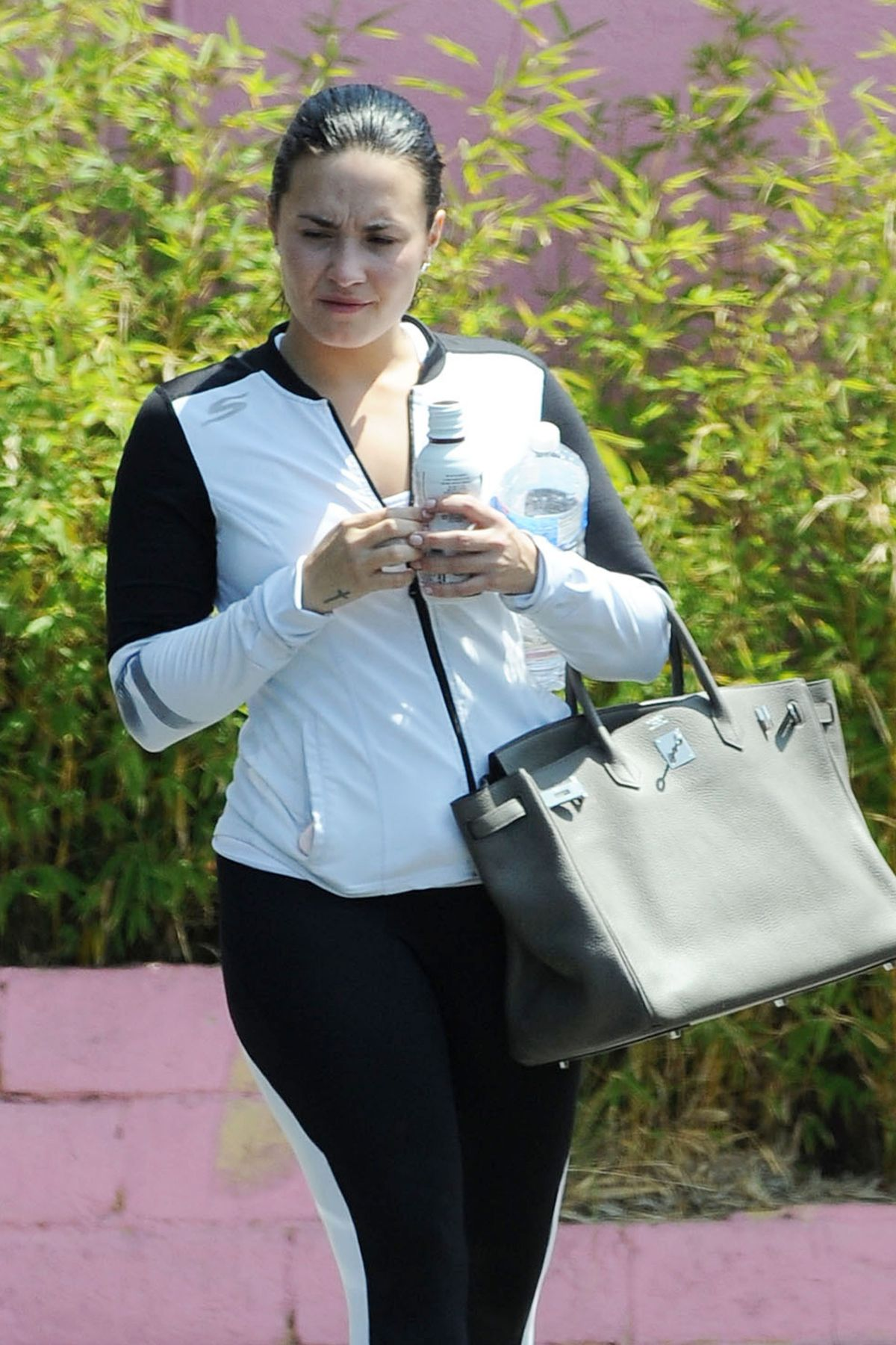 DEMI LOVATO Leaves a Gym in Los Angeles 05/11/2016