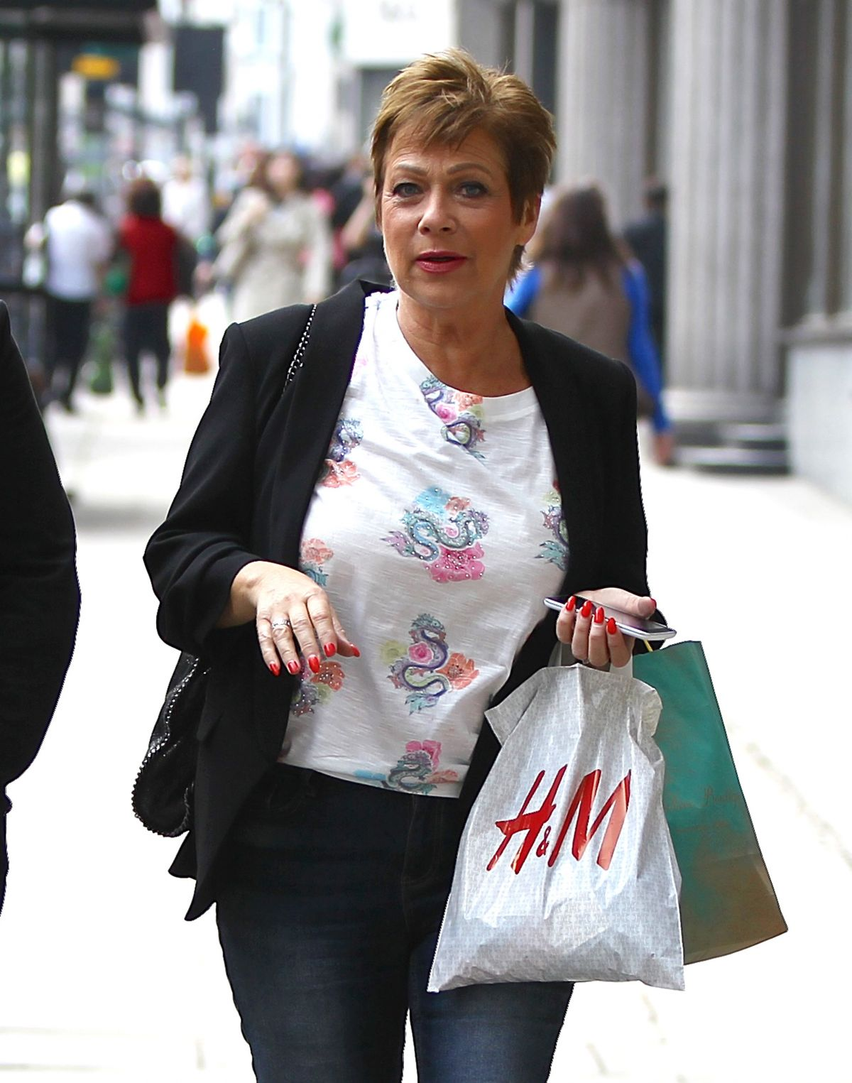 DENISE WELCH Out in West London 05/12/2016