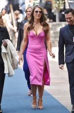 ELIZABETH HURLEY Arrives at NBC/Universal Upfront in New York 05/16/2016