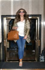 ELIZABETH HURLEY Out and About in New York 05/17/2016