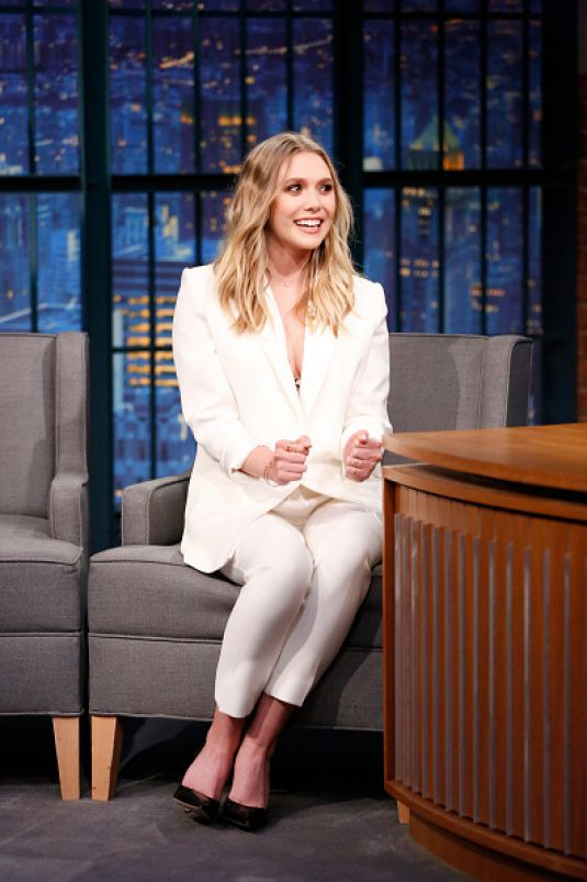 ELIZABETH OLSEN at Late Night with Seth Meyers in New York 05/03/2016