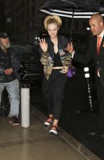 ELLE FANNING Arrives at a Hotel in New York 05/01/2016