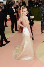 ELLE FANNING at Costume Institute Gala 2016 in New York 05/02/2016