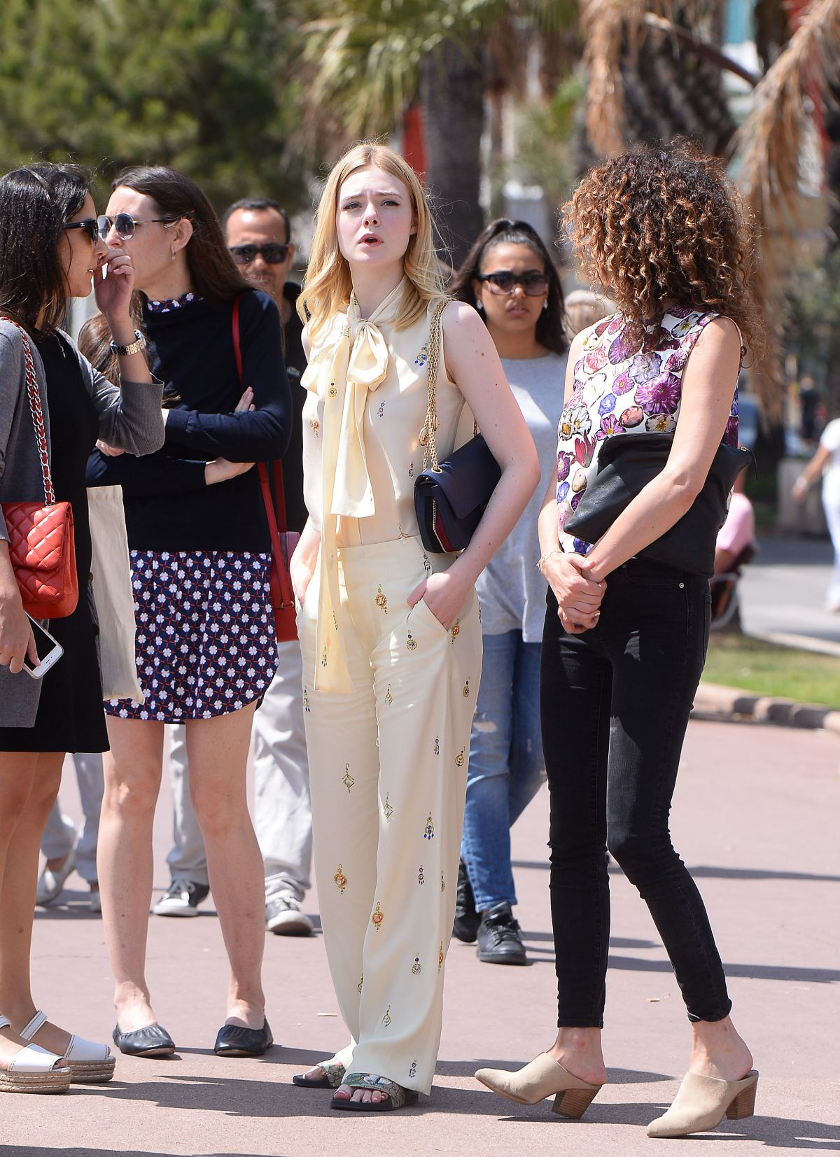 ELLE FANNING Out and About in Los Angeles 05/22/2016