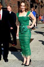 EMILIA CLARKE Arrives at Ed Sullivan Theater in New York 05/23/2016